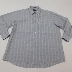 Calvin Klein 2XL Blue Button Down Shirt  Cotton